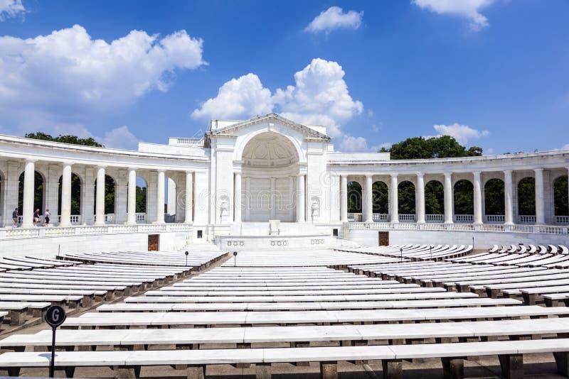 Amphithéâtre commémoratif à Arlington images stock
