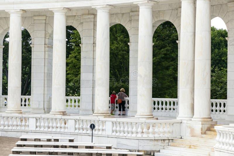 Amphithéâtre commémoratif à Arlington image libre de droits