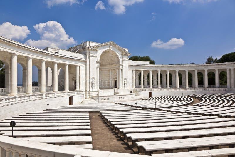 Amphithéâtre commémoratif au cimetière d'Arlington photos libres de droits