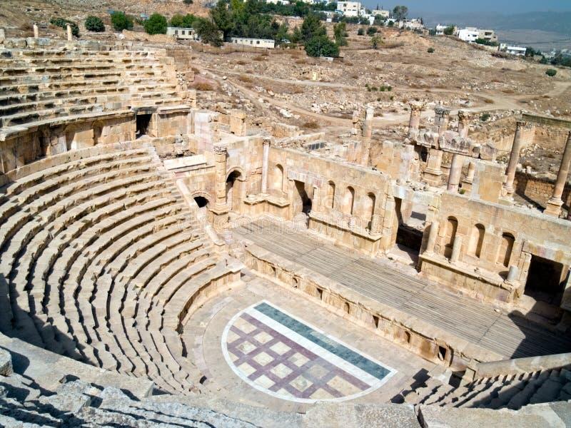 Amphithéâtre dans Jerash, Jordanie image libre de droits