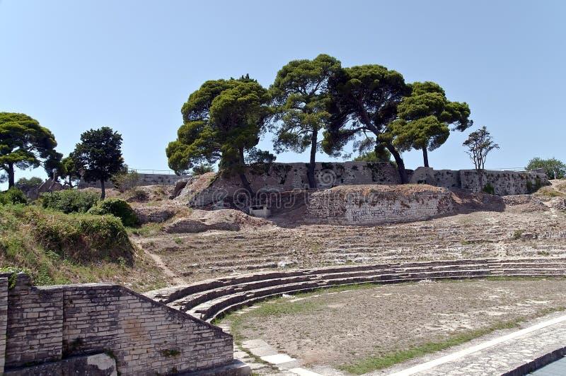 Amphithéâtre dans les Pula photos libres de droits