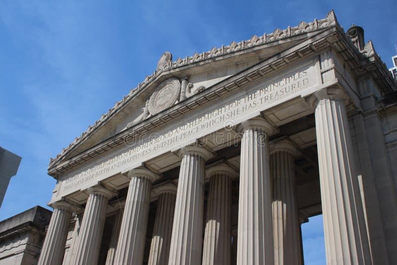 Amphithéâtre de mémorial de guerre de Nashville photo libre de droits