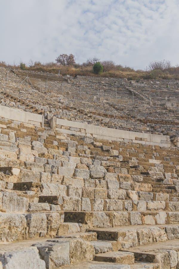 Amphithéâtre de ville du grec ancien d'Ephesus près de Selçuk, Turquie photo libre de droits