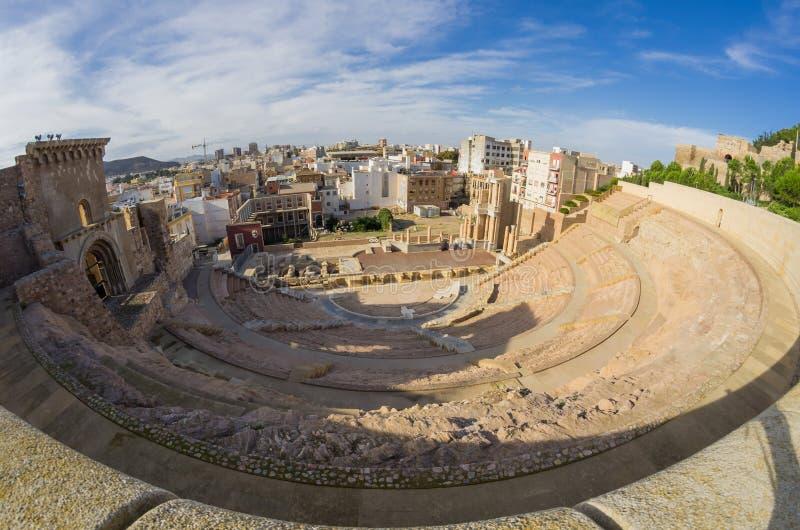 Amphithéâtre romain à Carthagène photographie stock libre de droits