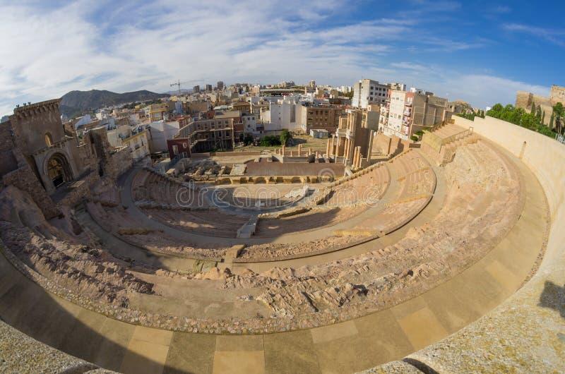 Amphithéâtre romain à Carthagène photographie stock