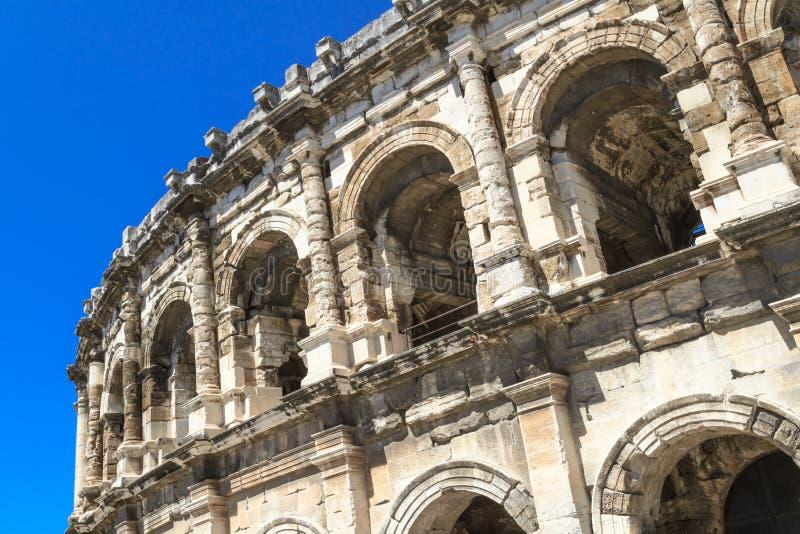Amphithéâtre romain à Nîmes, France image libre de droits
