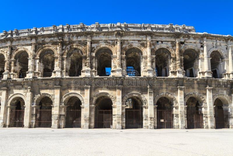 Amphithéâtre romain à Nîmes, France images libres de droits