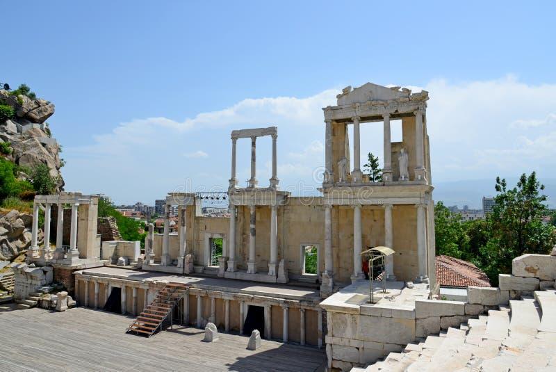 Amphithéâtre romain à Plovdiv image libre de droits