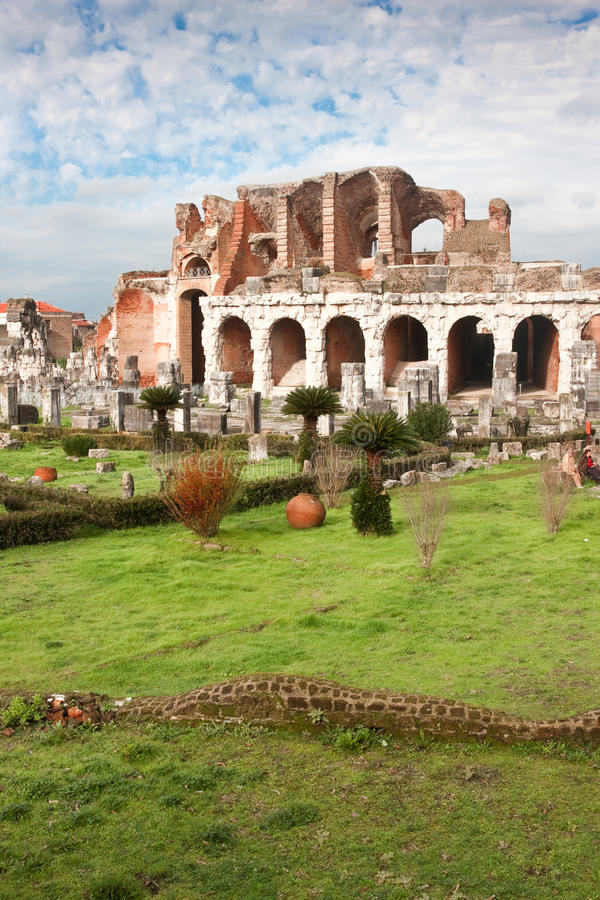 Amphithéâtre Santa Maria Capua Vetere photos stock