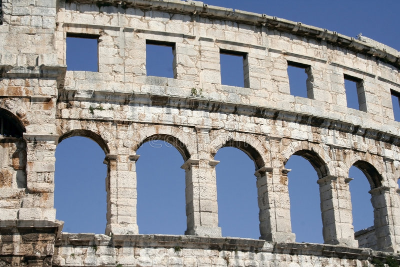 amphitheater royaltyfri bild
