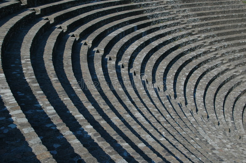 Download Amphitheater stock image. Image of grecian, down, poetic - 383269