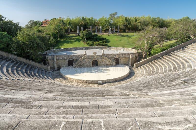 Amphitheater in Altos de Chavon, Dominican Republic. Fragment of amphitheater in Altos de Chavon, Dominican Republic stock image