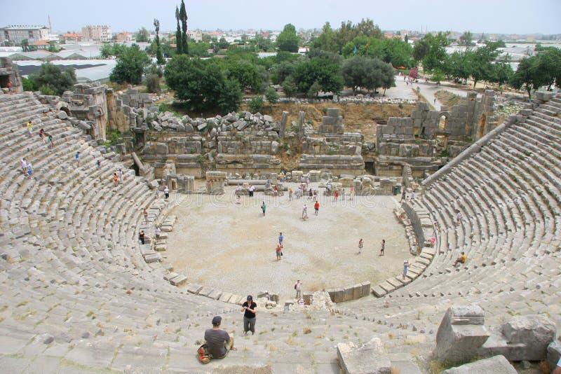Amphitheater antico in Myra fotografie stock libere da diritti