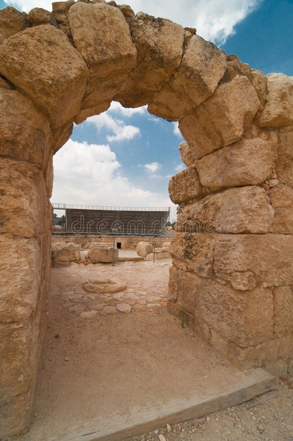 Amphitheater in Beit Guvrin royalty free stock photos