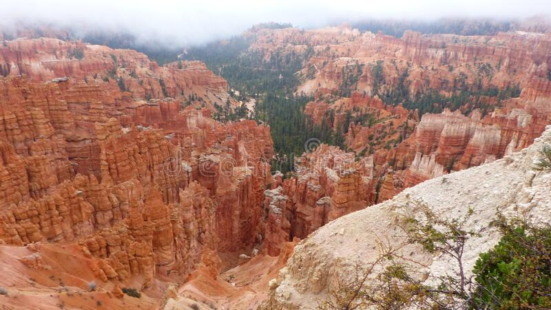 Amphitheater in the Bryce Canyon National Park royalty free stock photography