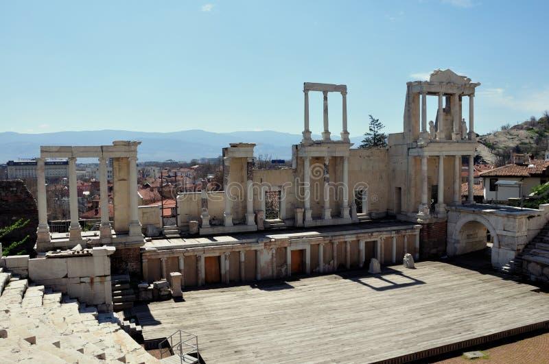 amphitheater bulgaria plovdiv royaltyfri bild