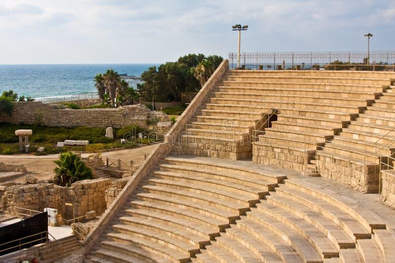 Amphitheater de Caesarea imagem de stock royalty free