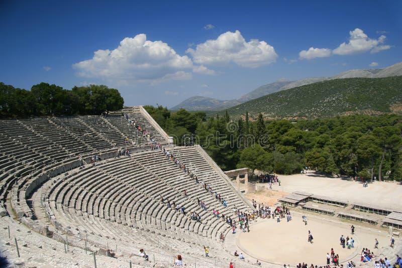 Amphitheater de Epidaurus, Greece foto de stock