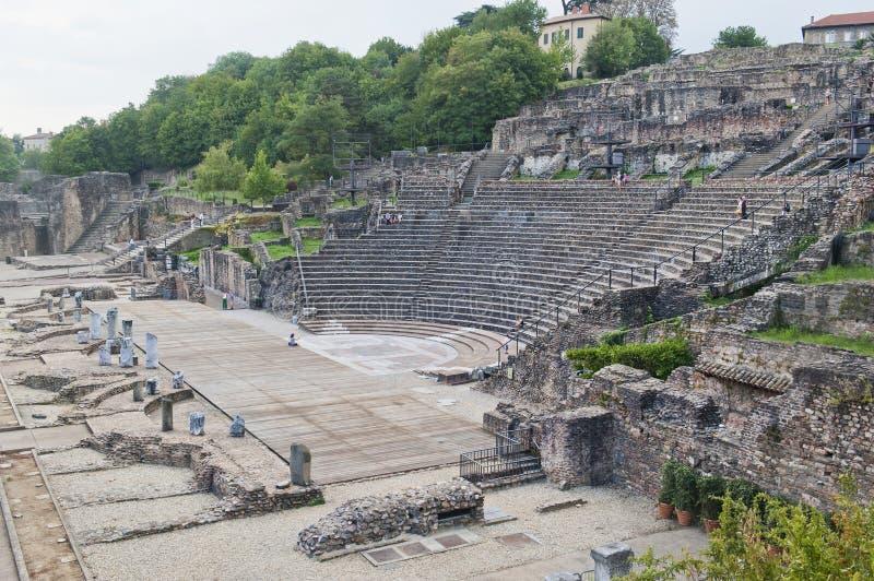 Amphitheater dei tre Gauls fotografie stock libere da diritti