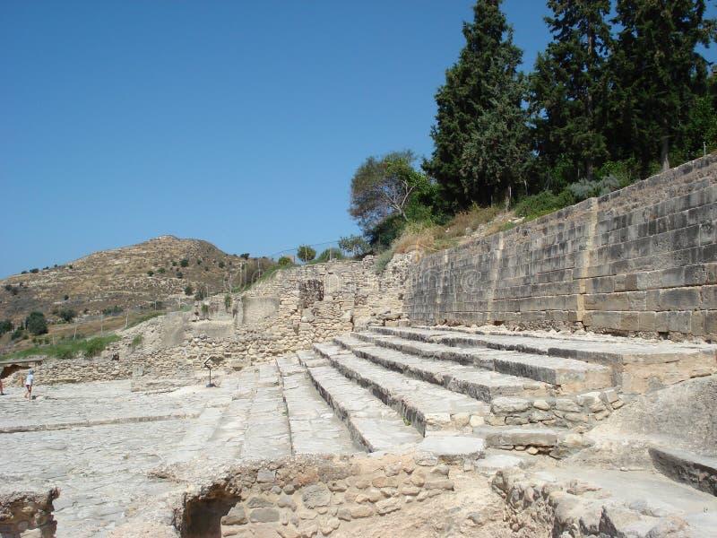 Amphitheater del Crete fotografie stock