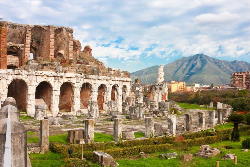 Amphitheater della Santa Maria Capua Vetere fotografia stock libera da diritti