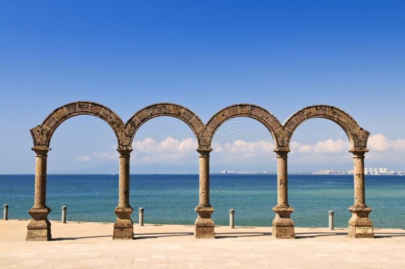 Amphitheater di Los Arcos in Puerto Vallarta, Messico immagini stock libere da diritti