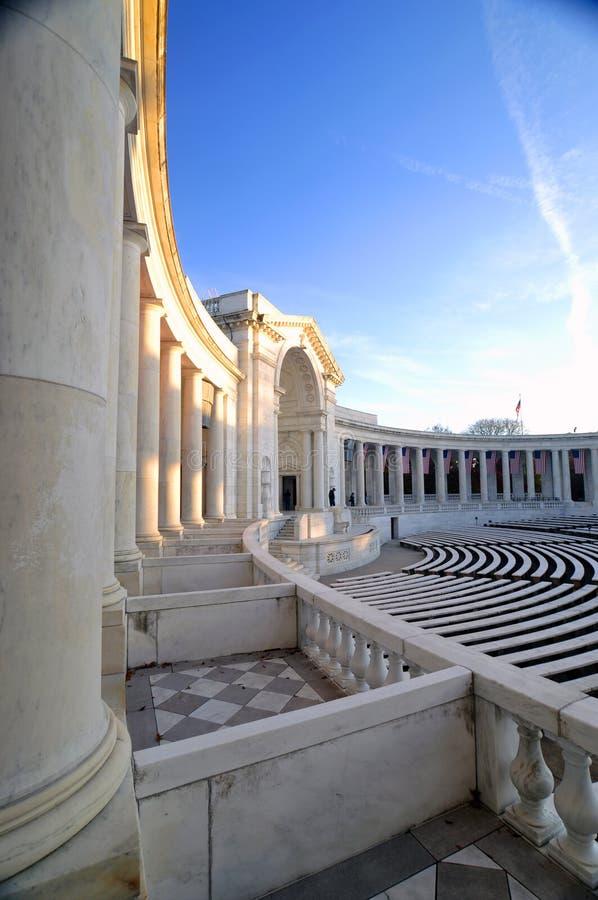 Amphitheater do cemitério nacional de Arlington fotografia de stock royalty free