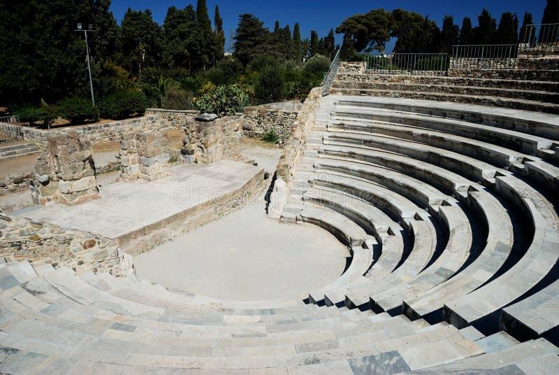 Amphitheater em Kos fotografia de stock