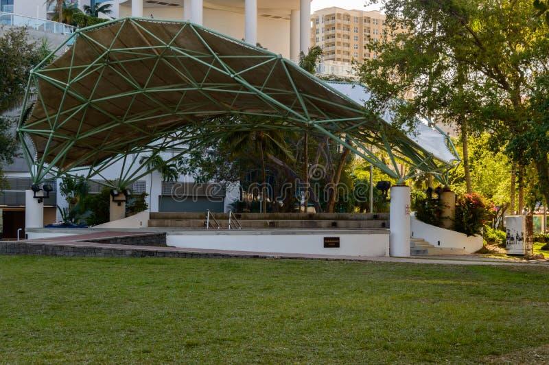 Amphitheater im im Stadtzentrum gelegenen Fort Lauderdale stockfoto