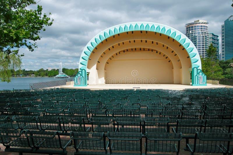 Amphitheater no parque de Eola do lago fotografia de stock
