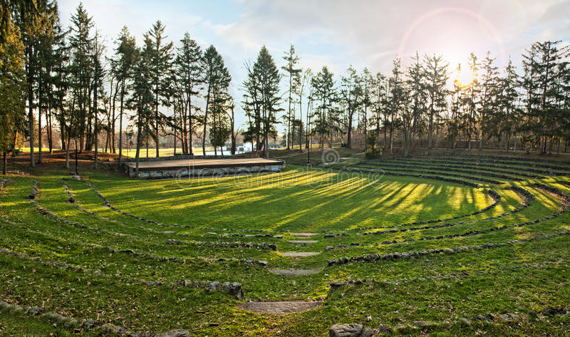 Download Amphitheater stock image. Image of seats, theater, grass - 40018015