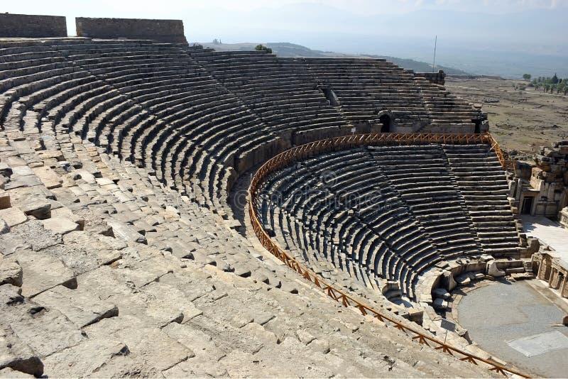 Amphitheater of Pamukkale royalty free stock image