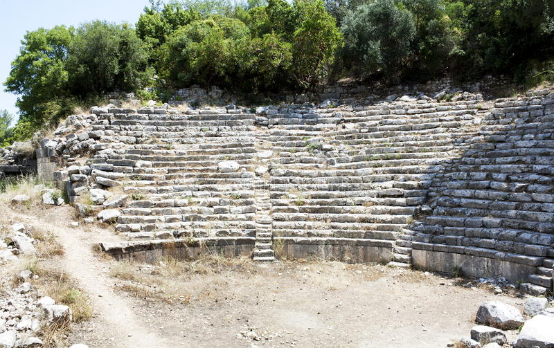 Amphitheater in Phaselis immagini stock