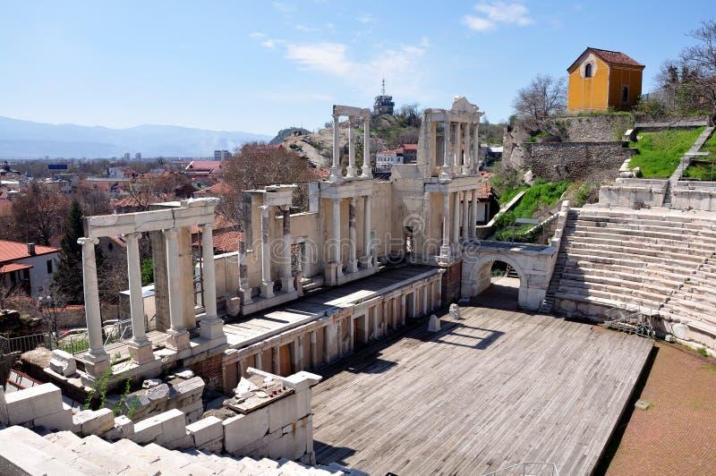 Amphitheater Plovdiv, Bulgaria. royalty free stock photo