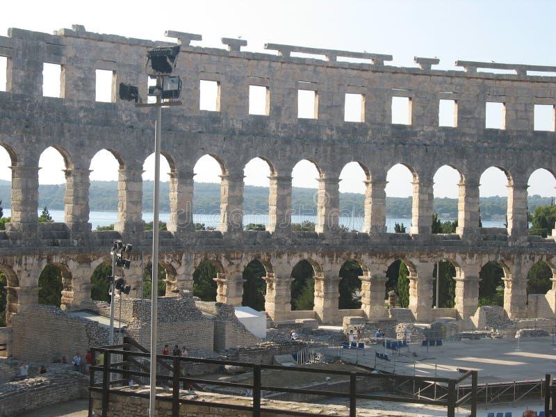 Amphitheater Pula bei Nord-Kroatien lizenzfreie stockfotografie
