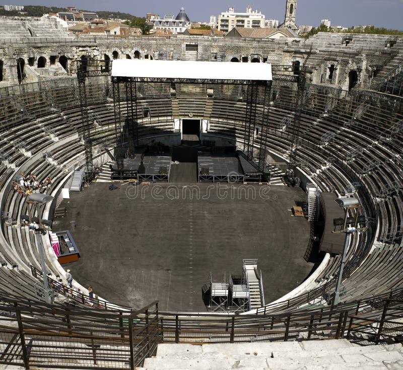 amphitheater roman nimes royaltyfria bilder