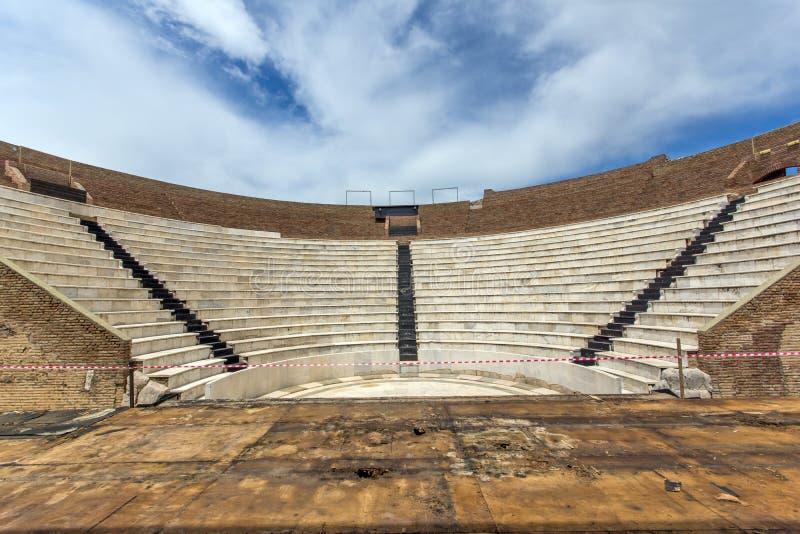Amphitheater in Roman Odeon, Patras, Peloponnese, Greece. Amphitheater in Roman Odeon, Patras, Peloponnese, Western Greece stock photography