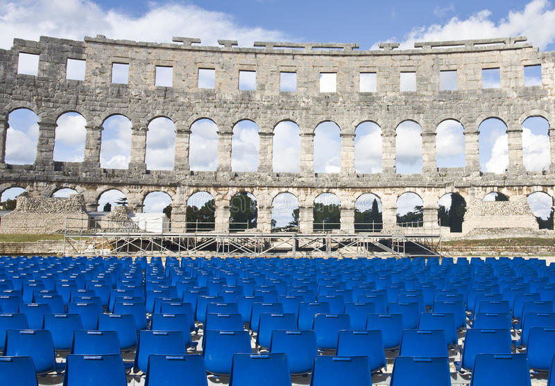 Amphitheater romano fotografia de stock