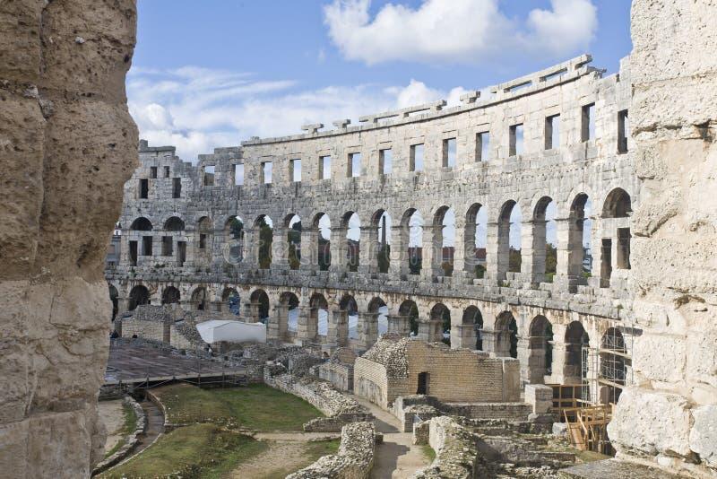 Amphitheater romano imagens de stock