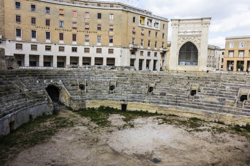 Amphitheater romano fotos de stock