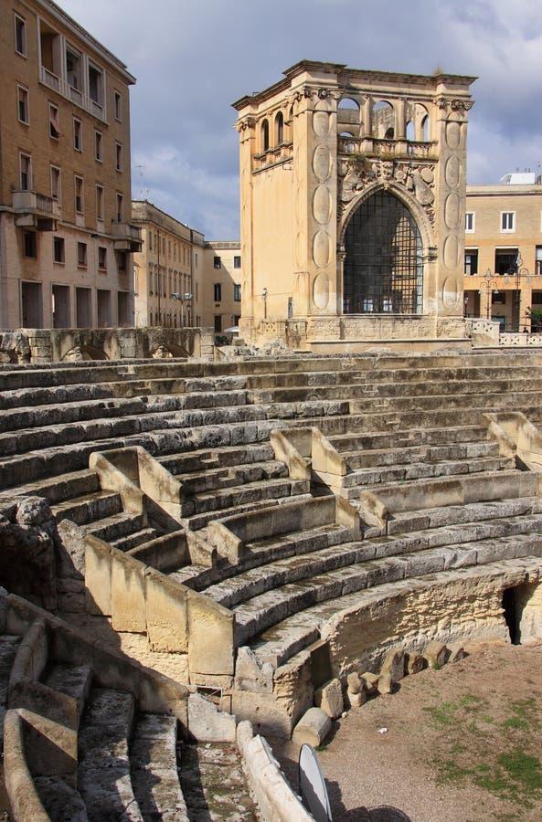 Amphitheater romano de Italy Lecce fotos de stock royalty free