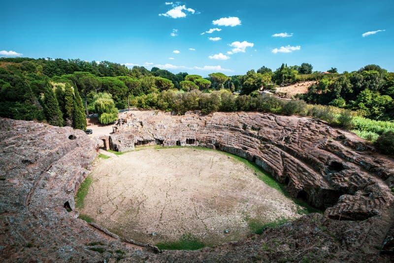 Amphitheater romano Sutri, Itália imagens de stock royalty free