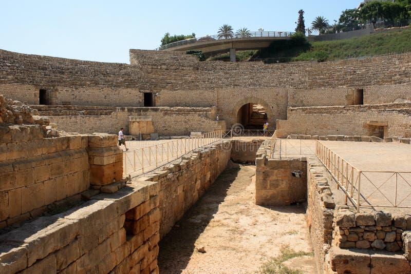 Amphitheater romano a Tarragona fotografia stock libera da diritti