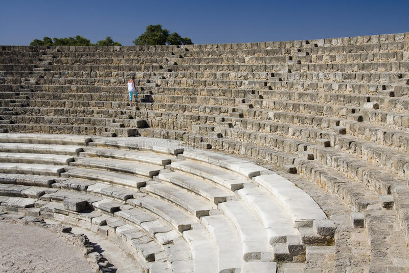 Amphitheater at Salamis - Turkish Cyprus royalty free stock photos