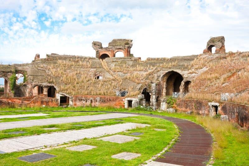 Amphitheater Santa- MariaCapua Vetere stockfotos