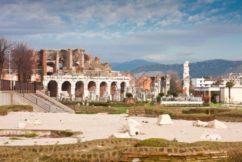 Amphitheater Santa- MariaCapua Vetere stockbilder