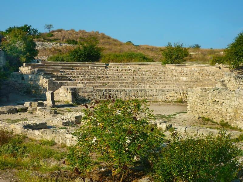 Amphitheater in Tauric Chersonese, Sewastopol, Krim lizenzfreie stockfotos