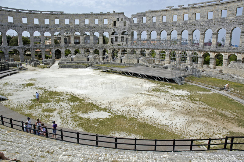 Amphitheatre stockbilder