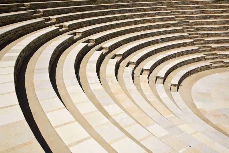 amphitheatre antyczny Greece grek obrazy stock