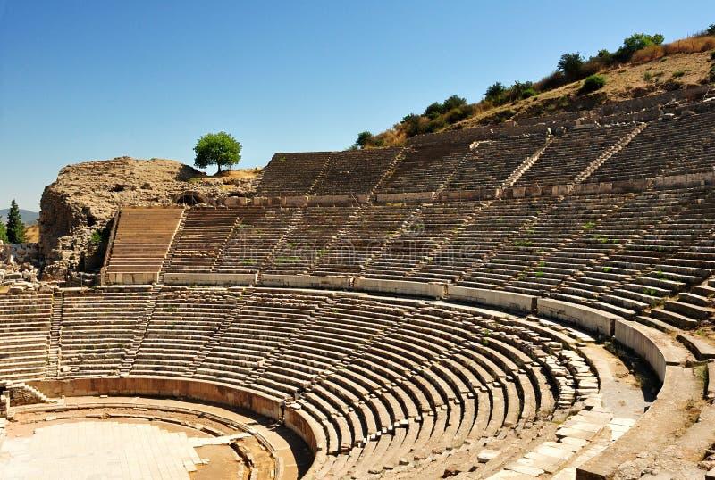 Amphitheatre chez Ephesus, Turquie. image libre de droits